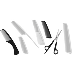 hairdressing scissors vector image