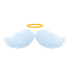 Halo wings icon cartoon style vector