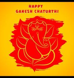happy Ganesha chaturthi festival greeting vector image