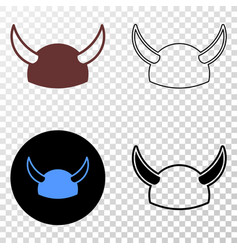 horned helmet eps icon with contour version vector image