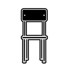 Isolated chair design vector