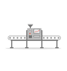 Isolated conveyor belt in flat design factory vector
