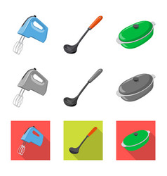 isolated object of kitchen and cook symbol vector image