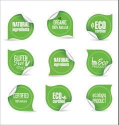 labels and emblems ecology collection 2 vector image