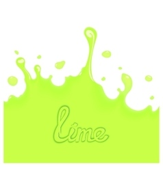 Lime juice splash vector