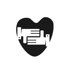 love commitment teamwork together black logo vector image