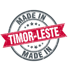 Made in timor-leste red round vintage stamp vector