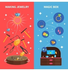 Making Jewelry Banners Set vector image