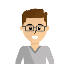 Man wearing glasses with elegant shirt vector