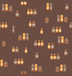 medicines for home animals flat seamless pattern vector image