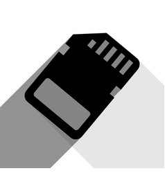 memory card sign black icon with two flat vector image