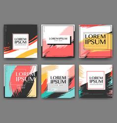 modern square banner design for social media vector image