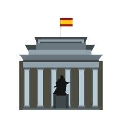 Museo del Prado with Velazquez statue vector image