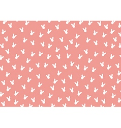 Pattern rabbit background vector image