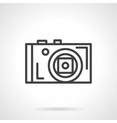 Photographer device black line icon vector