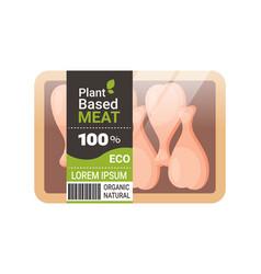 plant based vegetarian chicken legs beyond meat in vector image