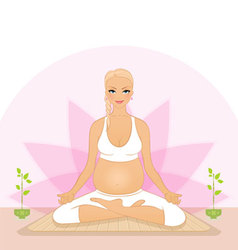 pregnant yoga vector image vector image