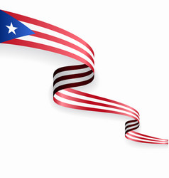 puerto rican flag wavy abstract background vector image