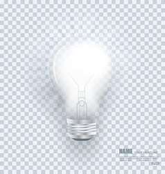 realistic bulb with light effects on clean vector image