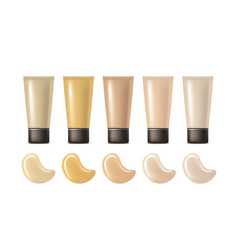 realistic foundation cream package vector image