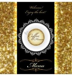 restaurant bar coffeehouse menu template vector image