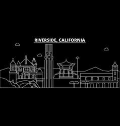 Riverside silhouette skyline usa - riverside vector