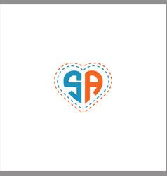 S a letter logo design on black color background vector