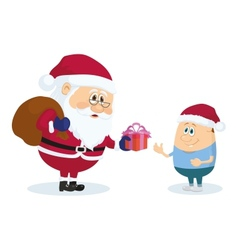 Santa Claus and boy vector image