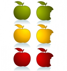 set of color apples vector image