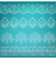 set of ethnic folk border vector image
