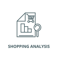 Shopping analysis line icon linear concept vector