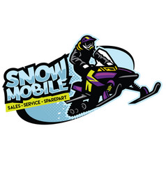 snowmobile shop sign design vector image