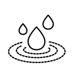spilled liquid and water drop isolated line icon vector image