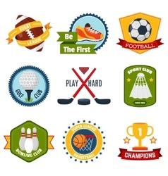 Sports Logo Set vector image