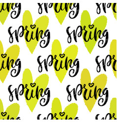 Spring seamless pattern repeating texture vector
