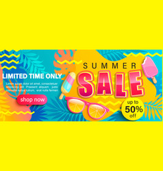 summer sale bright poster vector image