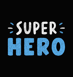 super hero lettering vector image
