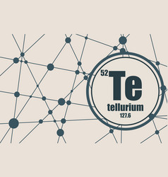 tellurium chemical element vector image