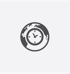 Time globe icon vector