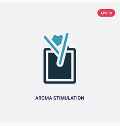 two color aroma stimulation icon from sauna vector image