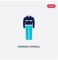 Two color working coverall icon from fashion vector
