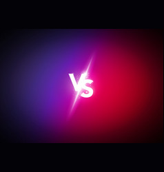versus screen design concept vs letters vector image