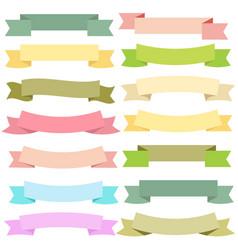 vintage color banner ribbon on white back vector image