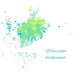 Watercolor blue-green background for your design vector image