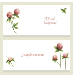 watercolor floral banners painted hand vector image