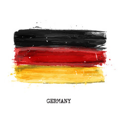 Watercolor painting flag of germany vector