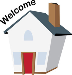 Welcome House vector image