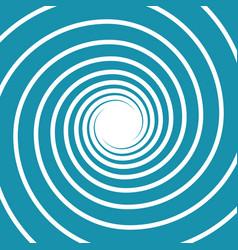 White on blue spiral swirl vector