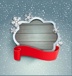 Winter background with vintage frame vector