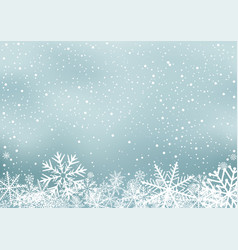 Winter holiday background with snow vector